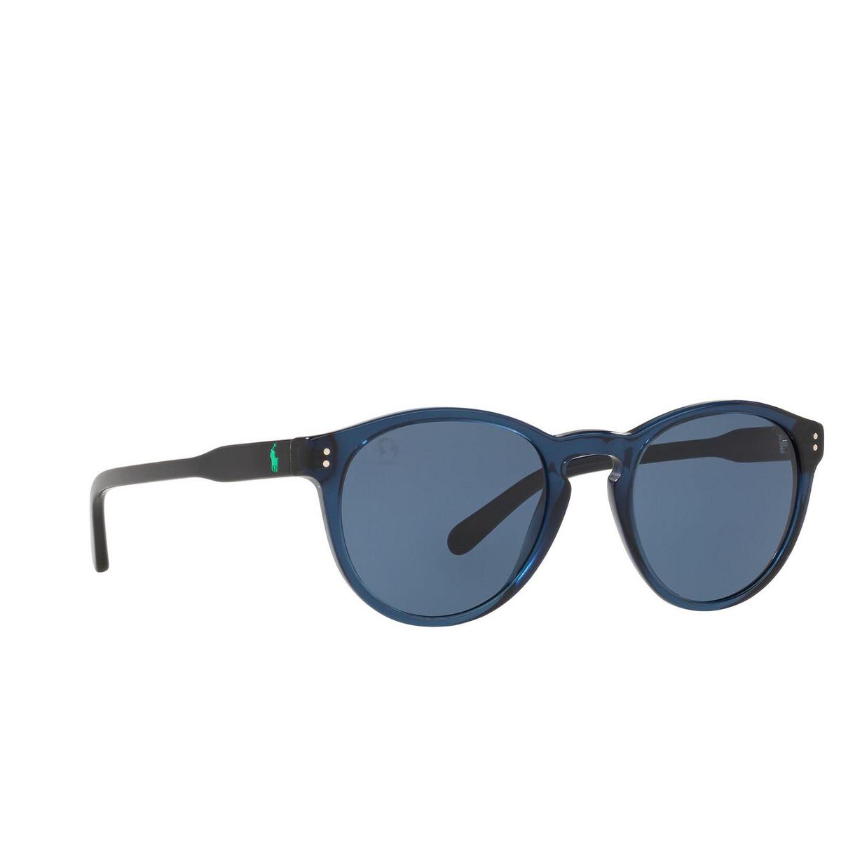 Polo Ralph Lauren® Round Sunglasses: PH4172 color Shiny Transparent Blue 595580.