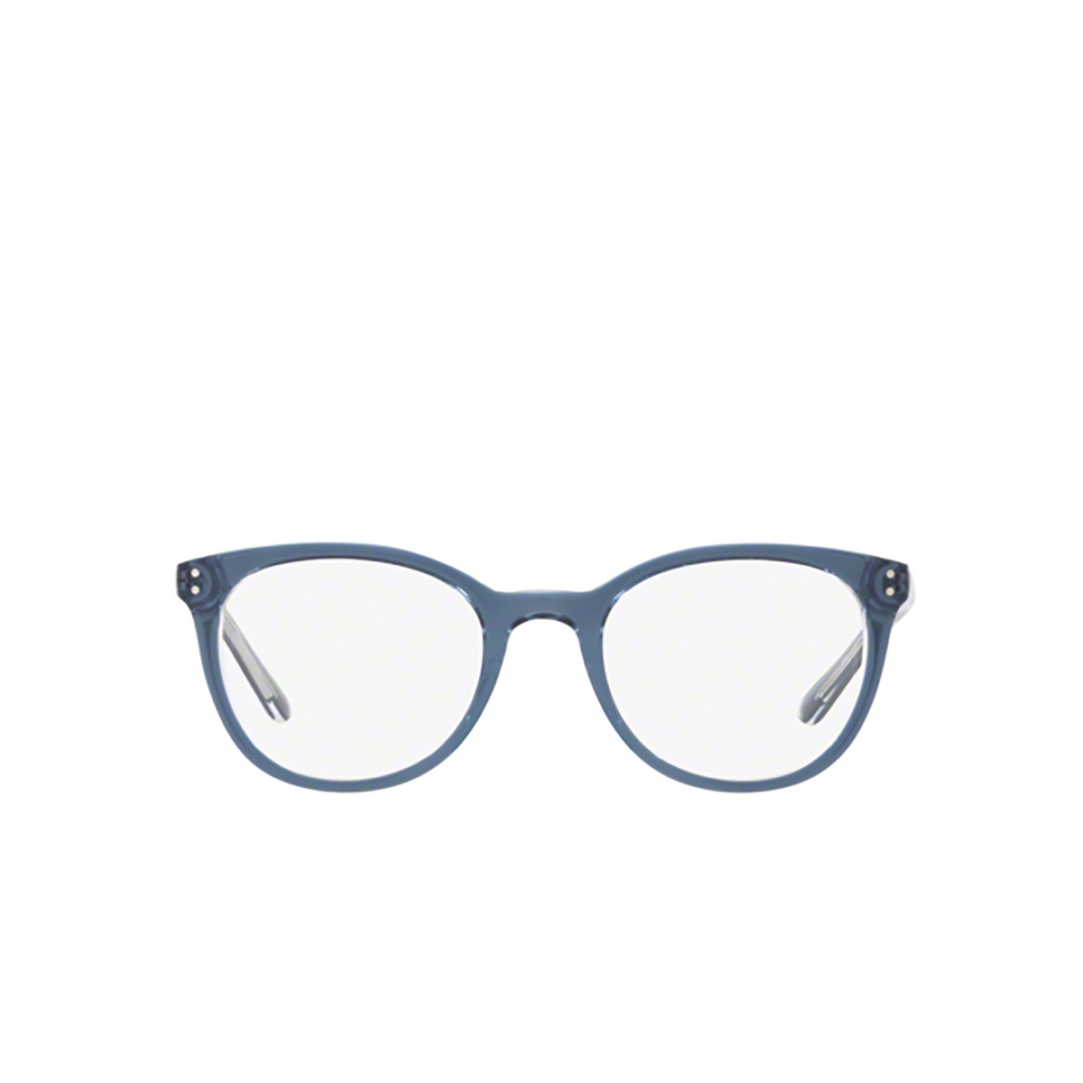 Polo Ralph Lauren® Round Eyeglasses: PP8529 color Shiny Navy Crystal 1666 - front view.