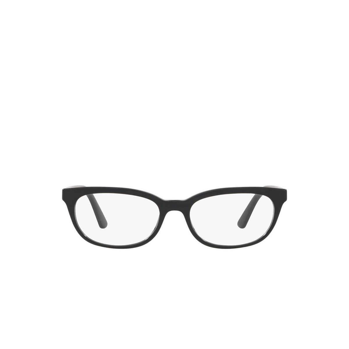 Prada® Oval Eyeglasses: Catwalk PR 13VV color Black 1AB1O1 - front view.