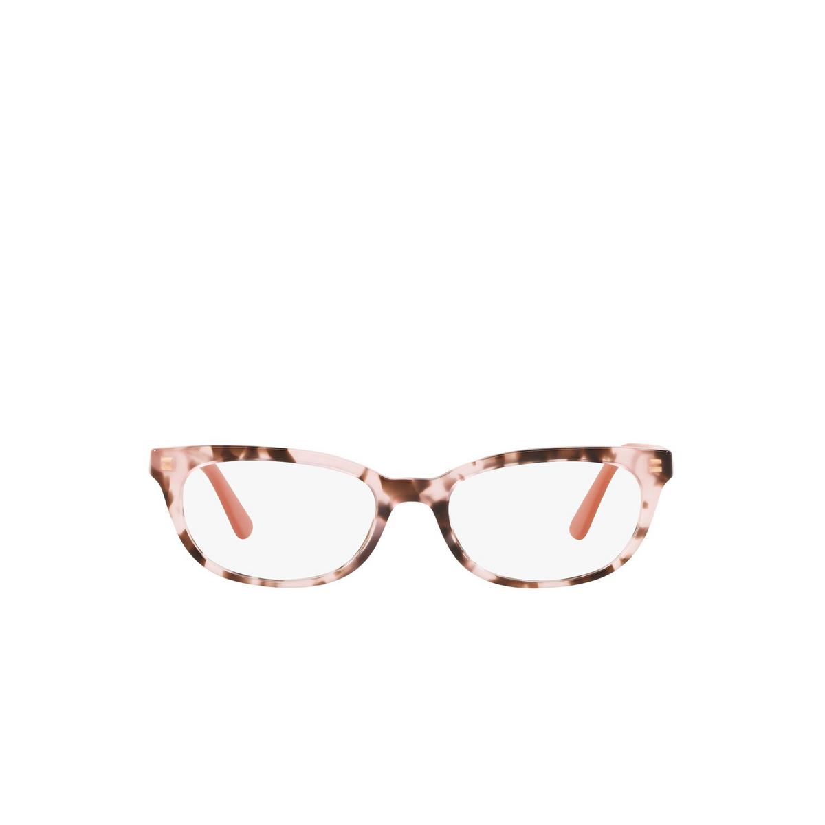Prada® Oval Eyeglasses: Catwalk PR 13VV color Spotted Pink ROJ1O1 - front view.