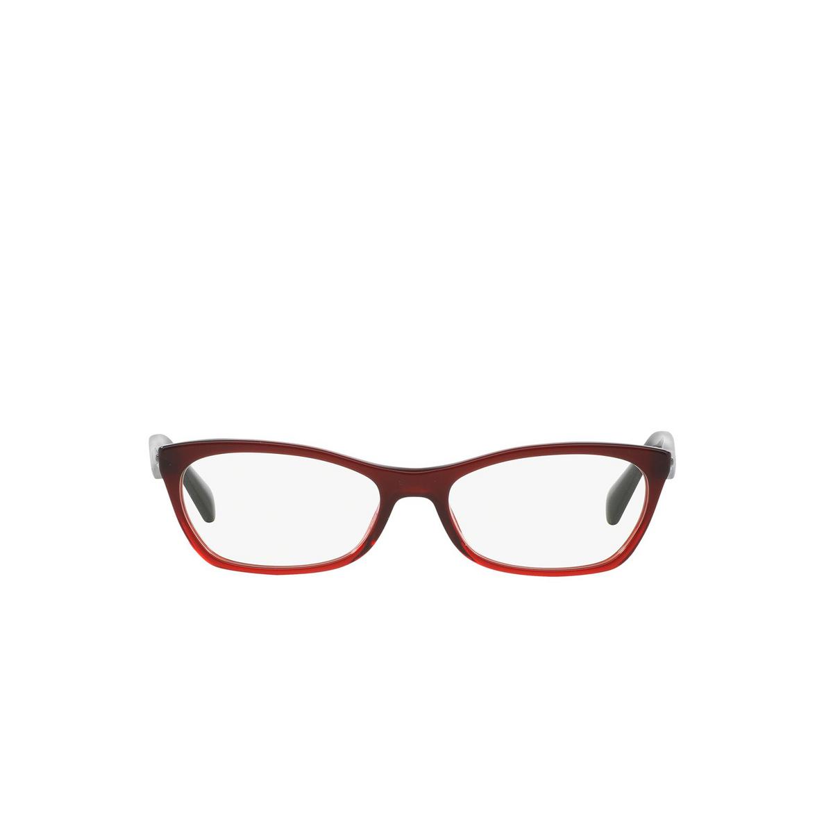 Prada® Cat-eye Eyeglasses: Catwalk PR 15PV color Bordeaux Gradient Red MAX1O1 - front view.