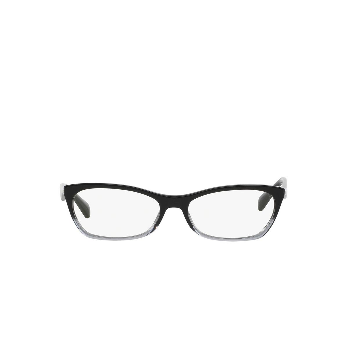 Prada® Cat-eye Eyeglasses: Catwalk PR 15PV color Black Gradient Transparent ZYY1O1 - front view.