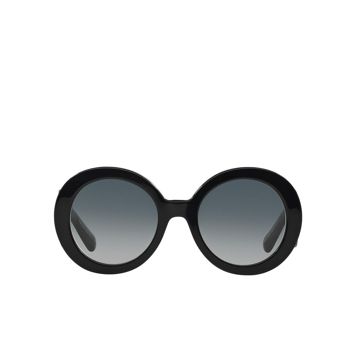Prada® Round Sunglasses: Catwalk PR 27NS color Black 1AB3M1 - front view.