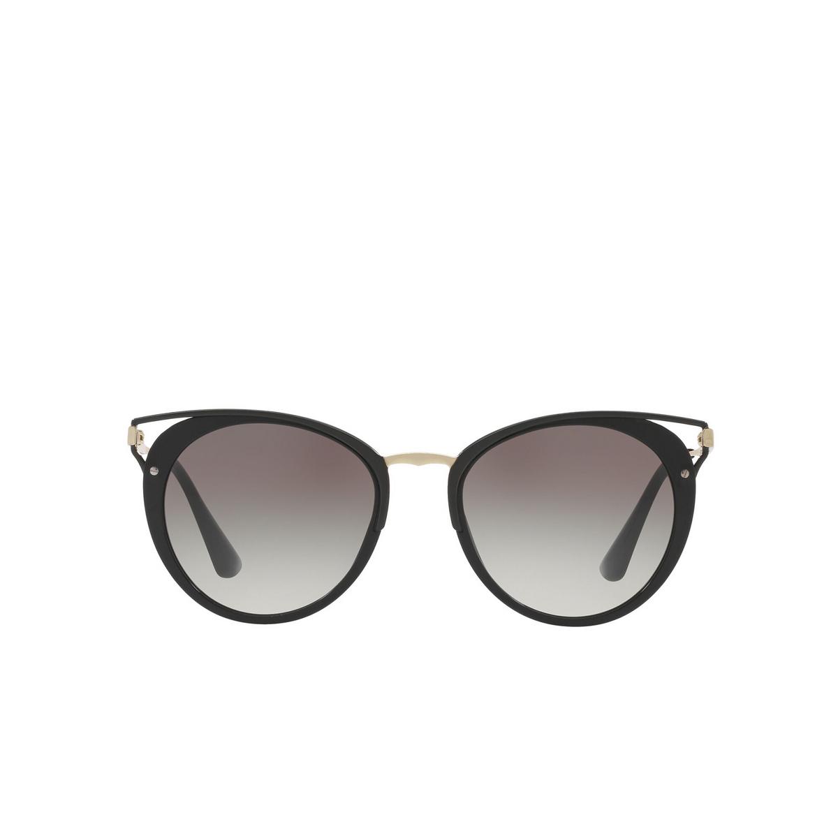 Prada® Cat-eye Sunglasses: PR 66TS color Black 1AB0A7 - front view.