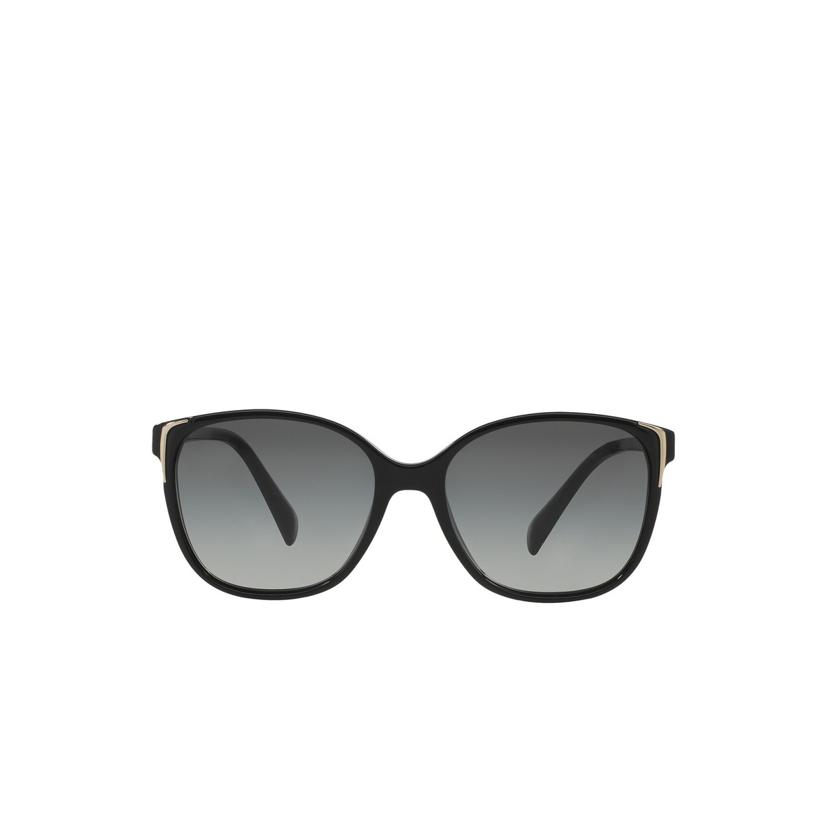 Prada® Cat-eye Sunglasses: PR 01OS color Black 1AB3M1 - front view.