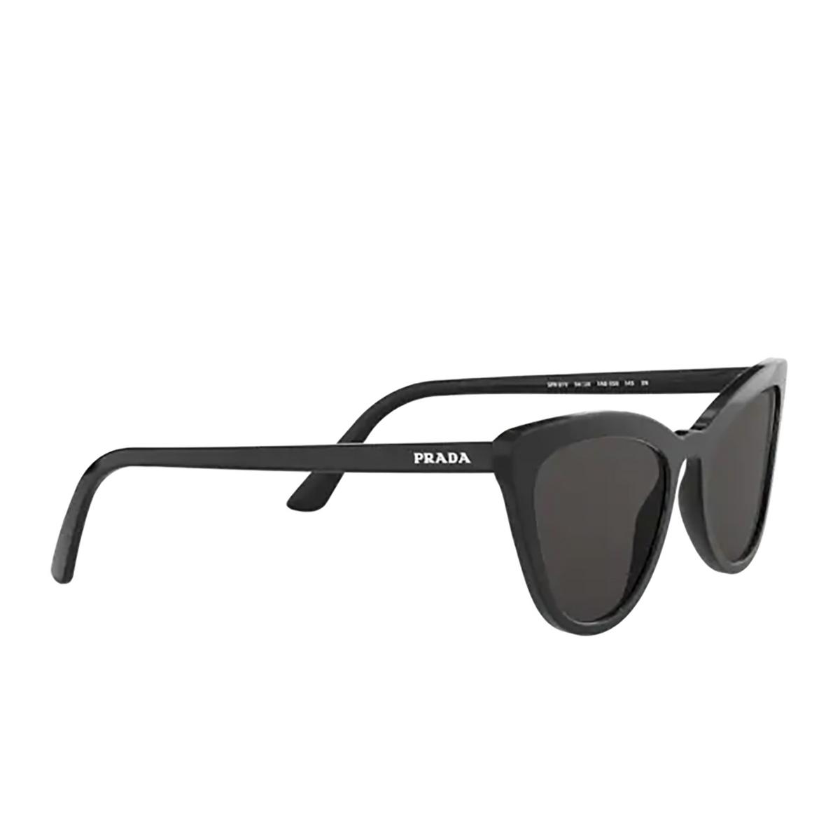 Prada® Cat-eye Sunglasses: PR 01VSF color Black 1AB5S0.