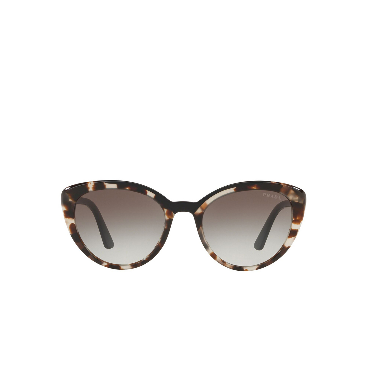 Prada® Cat-eye Sunglasses: Conceptual PR 02VSF color Opal Spotted Brown / Black 3980A7 - front view.