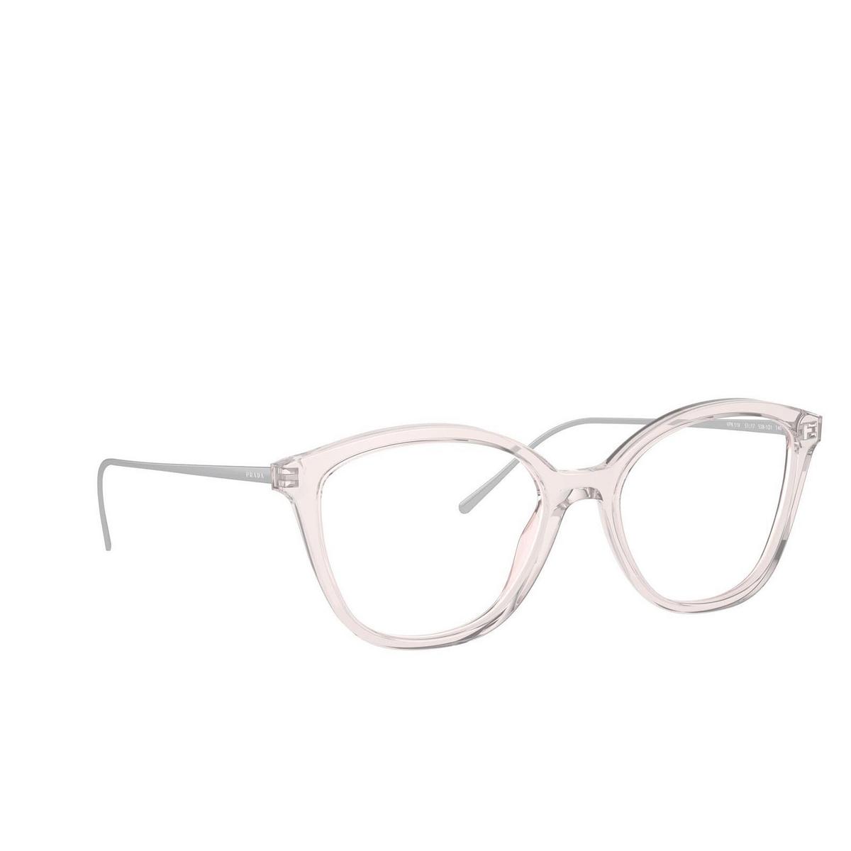 Prada® Square Eyeglasses: PR 11VV color Crystal Pink 5381O1.