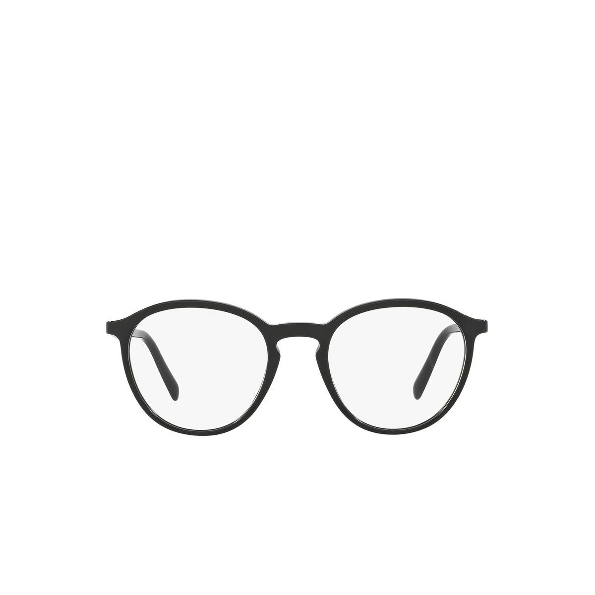 Prada® Round Eyeglasses: Conceptual PR 13TV color Black 1AB1O1 - front view.