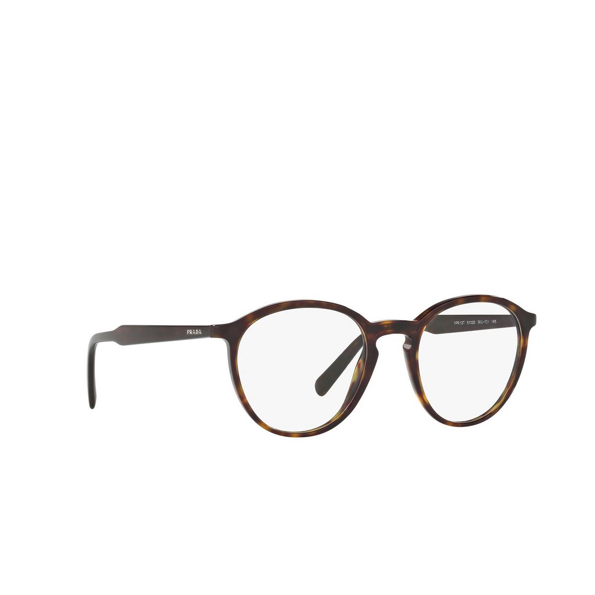 Prada® Round Eyeglasses: Conceptual PR 13TV color Havana 2AU1O1 - three-quarters view.
