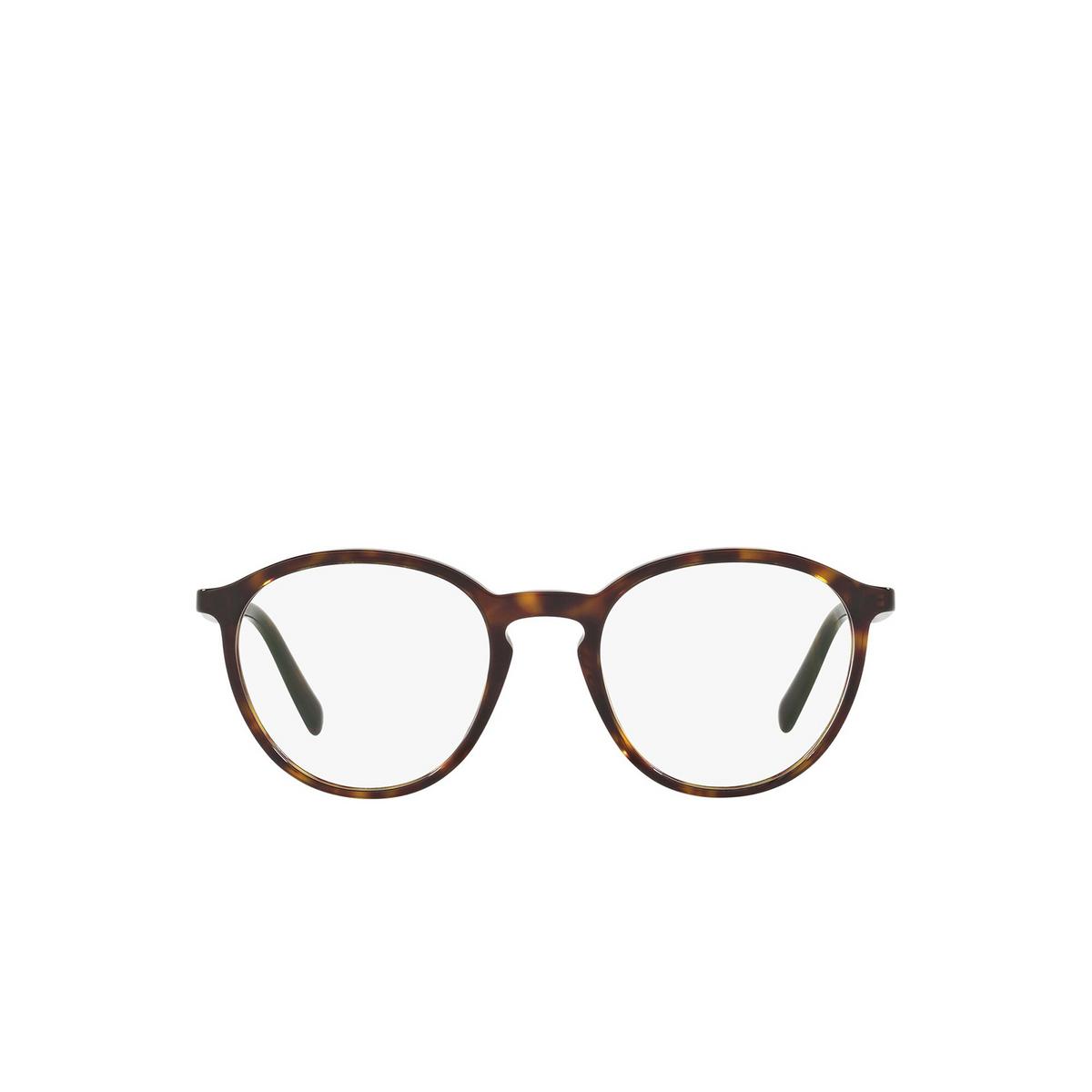 Prada® Round Eyeglasses: Conceptual PR 13TV color Havana 2AU1O1 - front view.