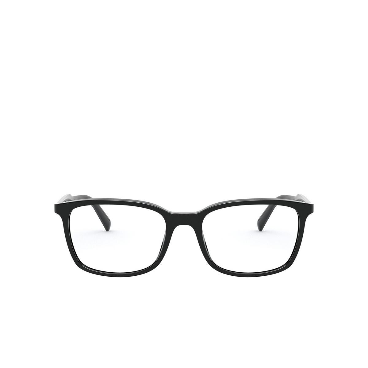 Prada® Rectangle Eyeglasses: Conceptual PR 13XV color Black 1AB1O1 - front view.