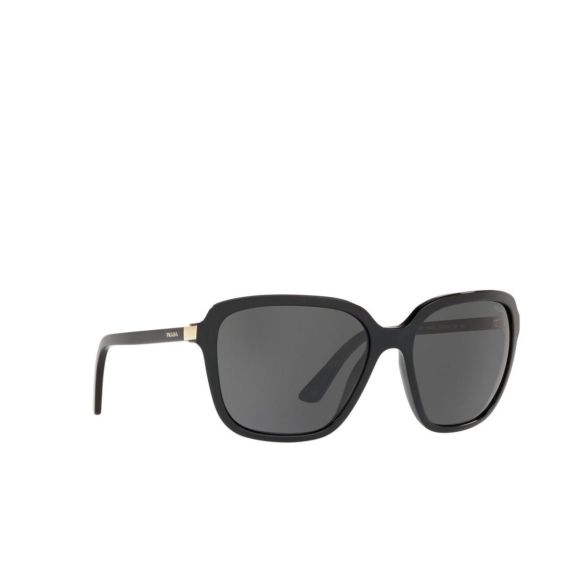 Prada® Square Sunglasses: Heritage PR 10VS color Dark 1AB5S0 - three-quarters view.