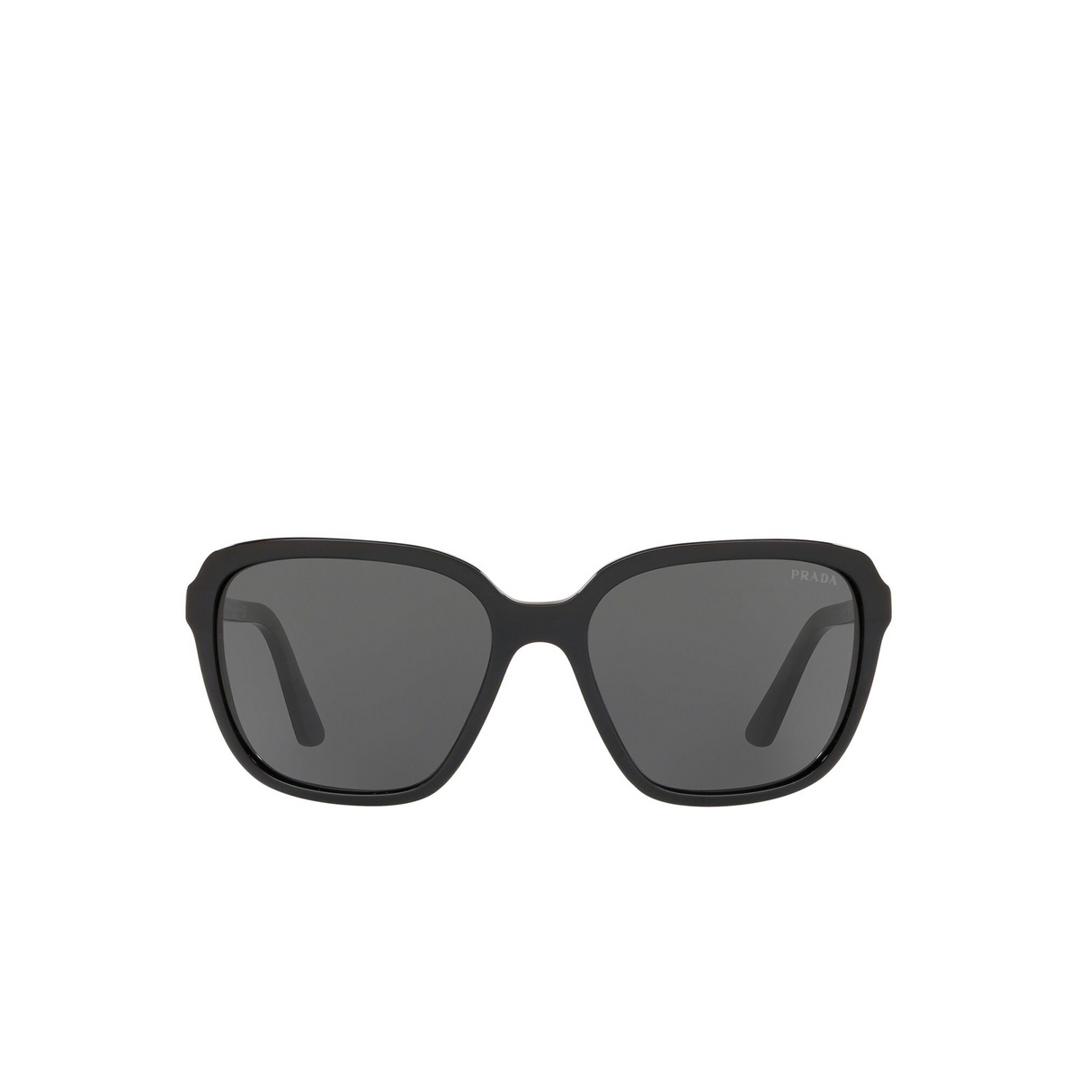 Prada® Square Sunglasses: Heritage PR 10VS color Dark 1AB5S0 - front view.