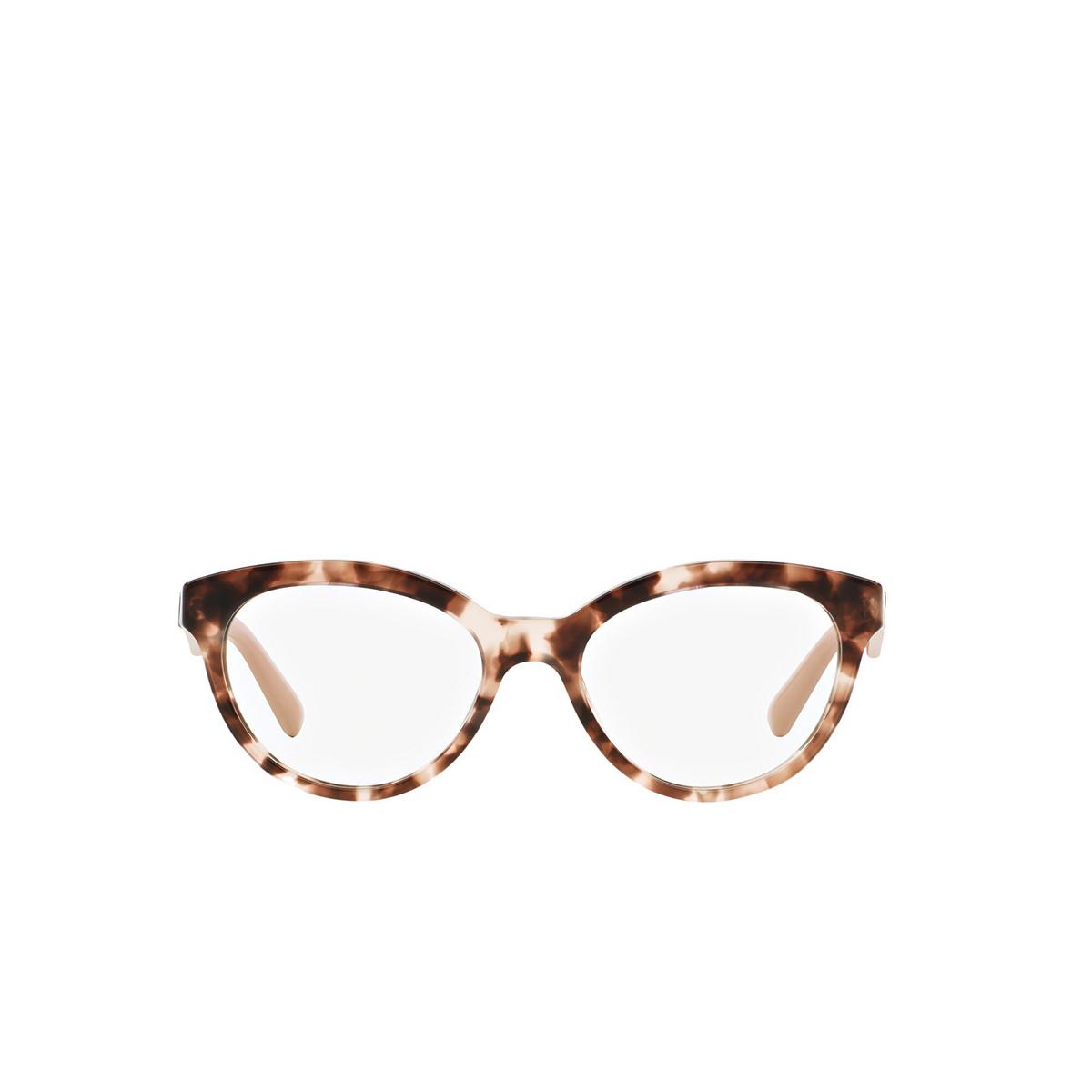 Prada® Square Eyeglasses: Heritage PR 11RV color Pink Havana ROJ1O1 - front view.