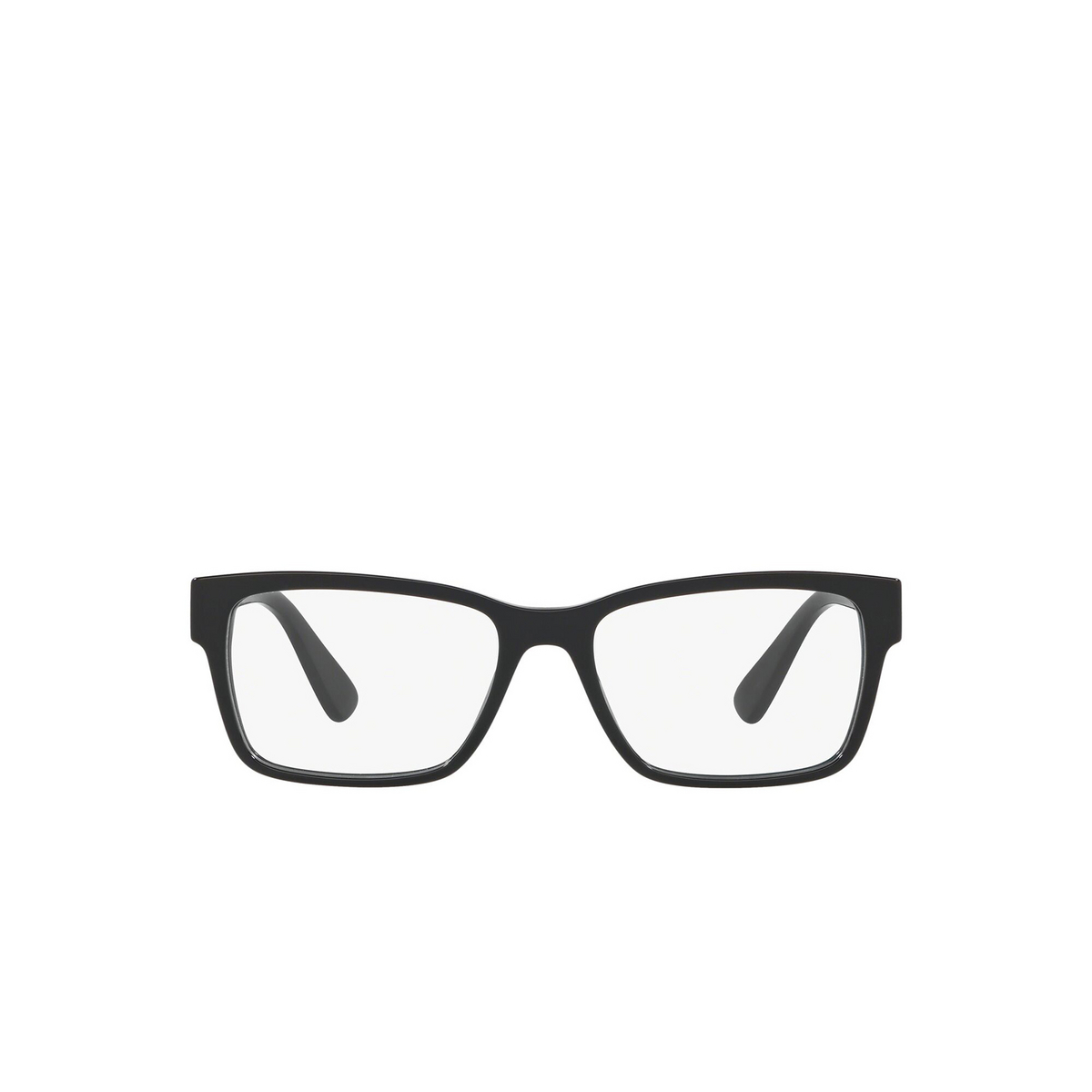 Prada® Rectangle Eyeglasses: Heritage PR 15VV color Black 1AB1O1 - front view.