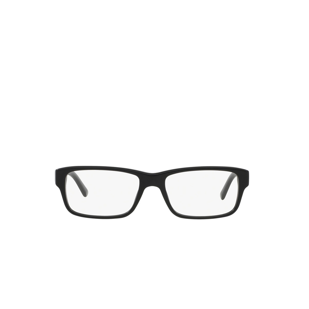 Prada® Rectangle Eyeglasses: Heritage PR 16MV color Matte Black 1BO1O1 - front view.