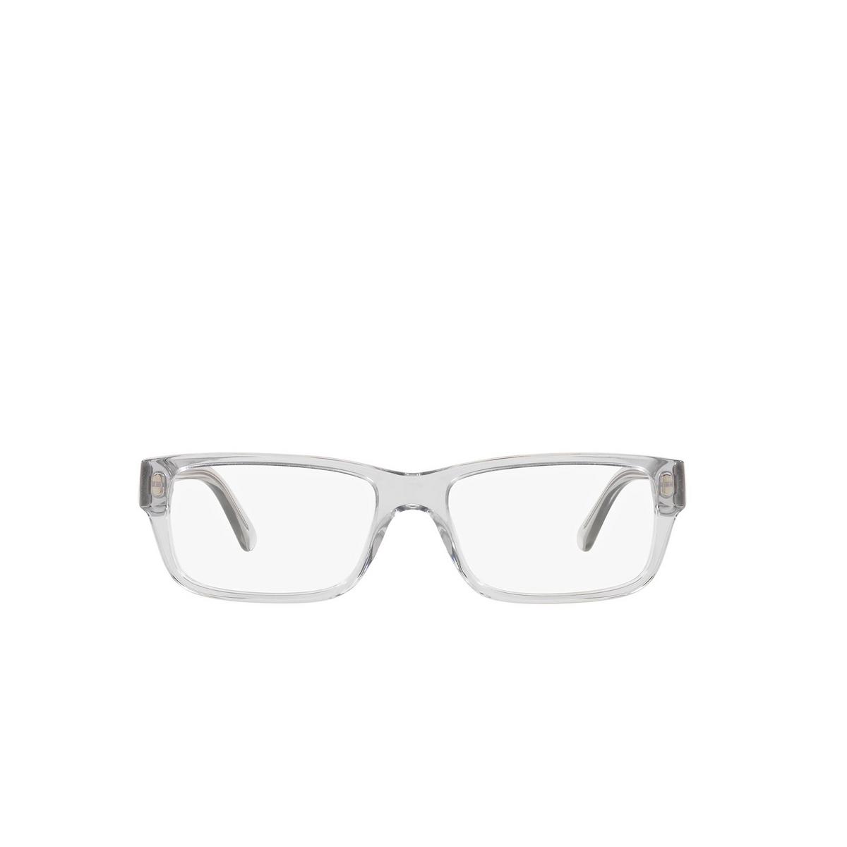 Prada® Rectangle Eyeglasses: Heritage PR 16MV color Grey Crystal U431O1 - front view.