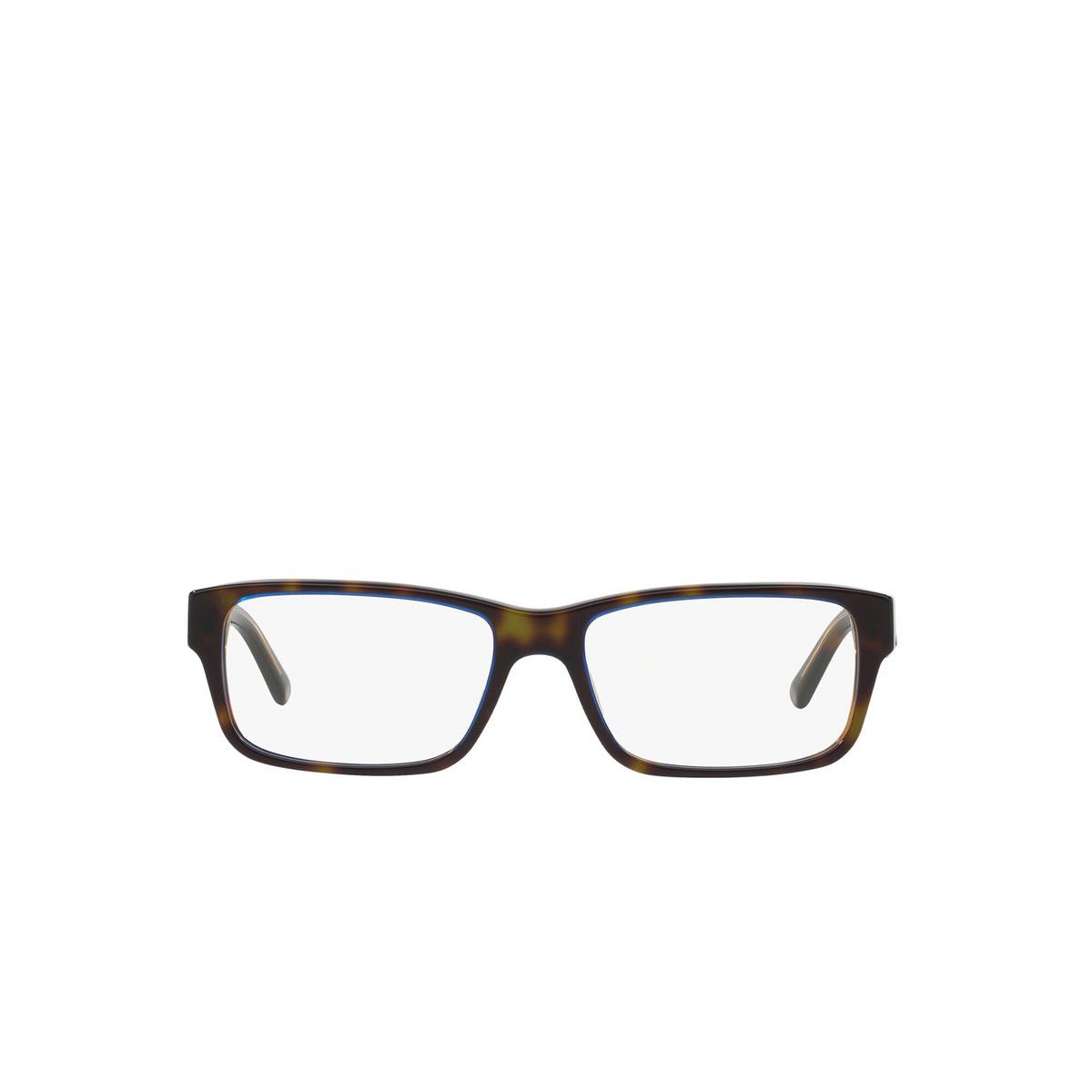 Prada® Rectangle Eyeglasses: Heritage PR 16MV color Tortoise Denim ZXH1O1 - front view.