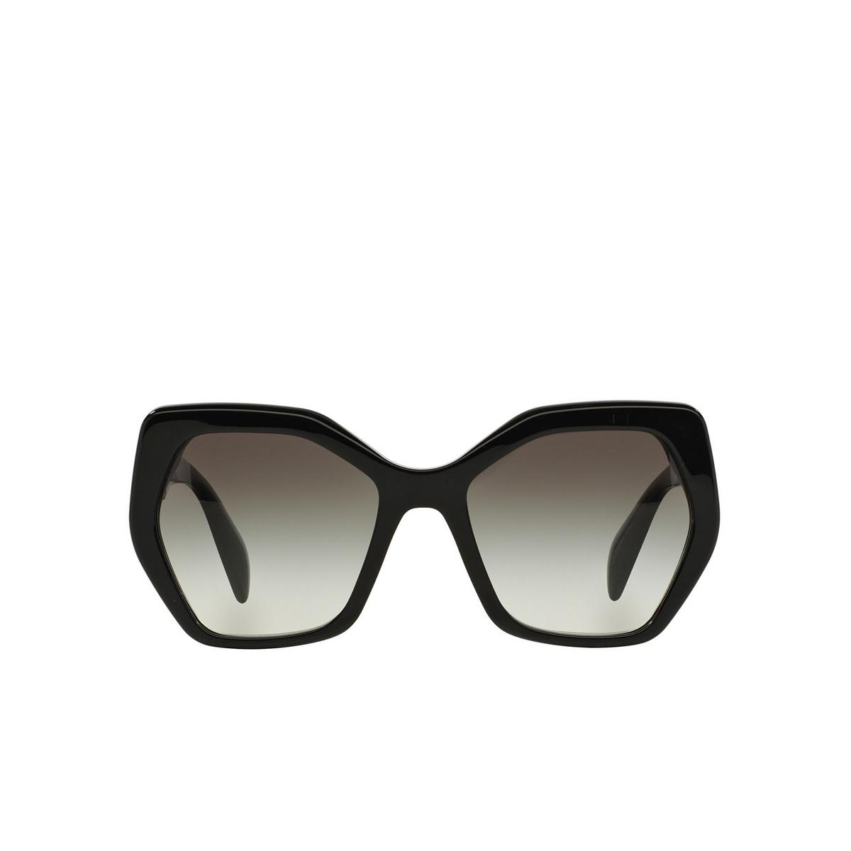 Prada® Irregular Sunglasses: Heritage PR 16RS color Black 1AB0A7 - front view.