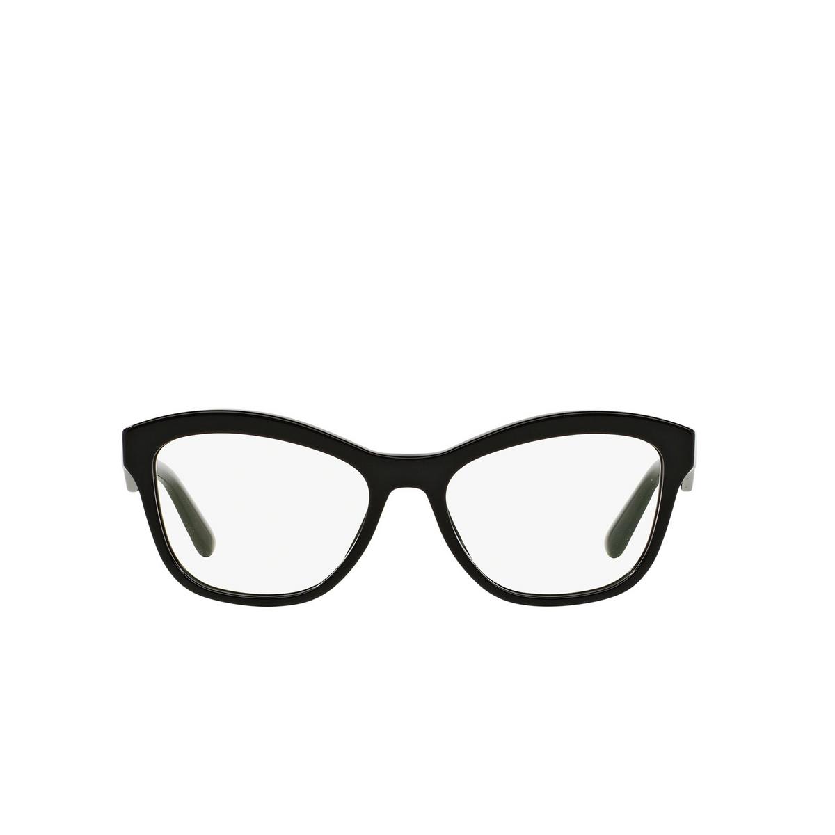 Prada® Cat-eye Eyeglasses: Heritage PR 29RV color Black 1AB1O1 - front view.