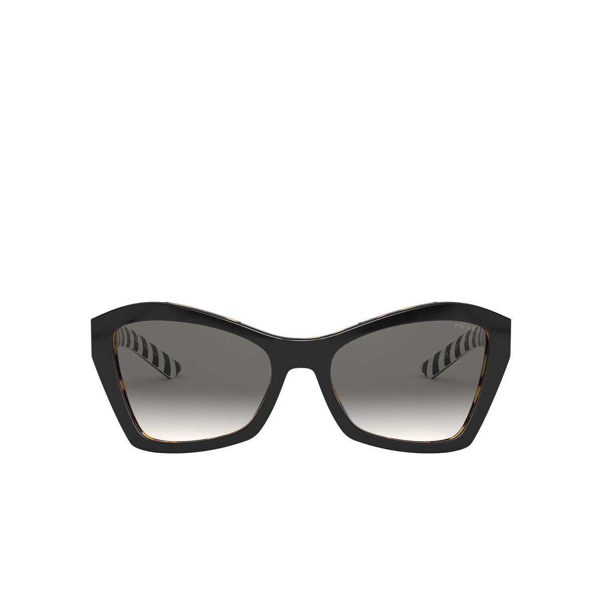 Prada® Butterfly Sunglasses: PR 07XS color Top Black / Medium Havana NAI130 - front view.