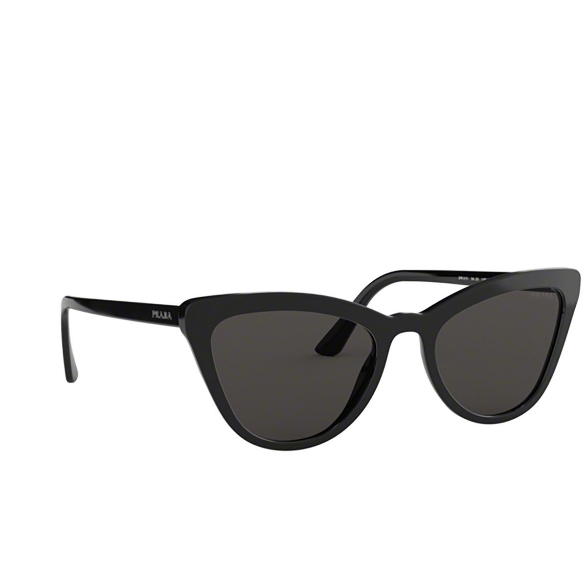 Prada® Cat-eye Sunglasses: PR 01VS color Black 1AB5S0.