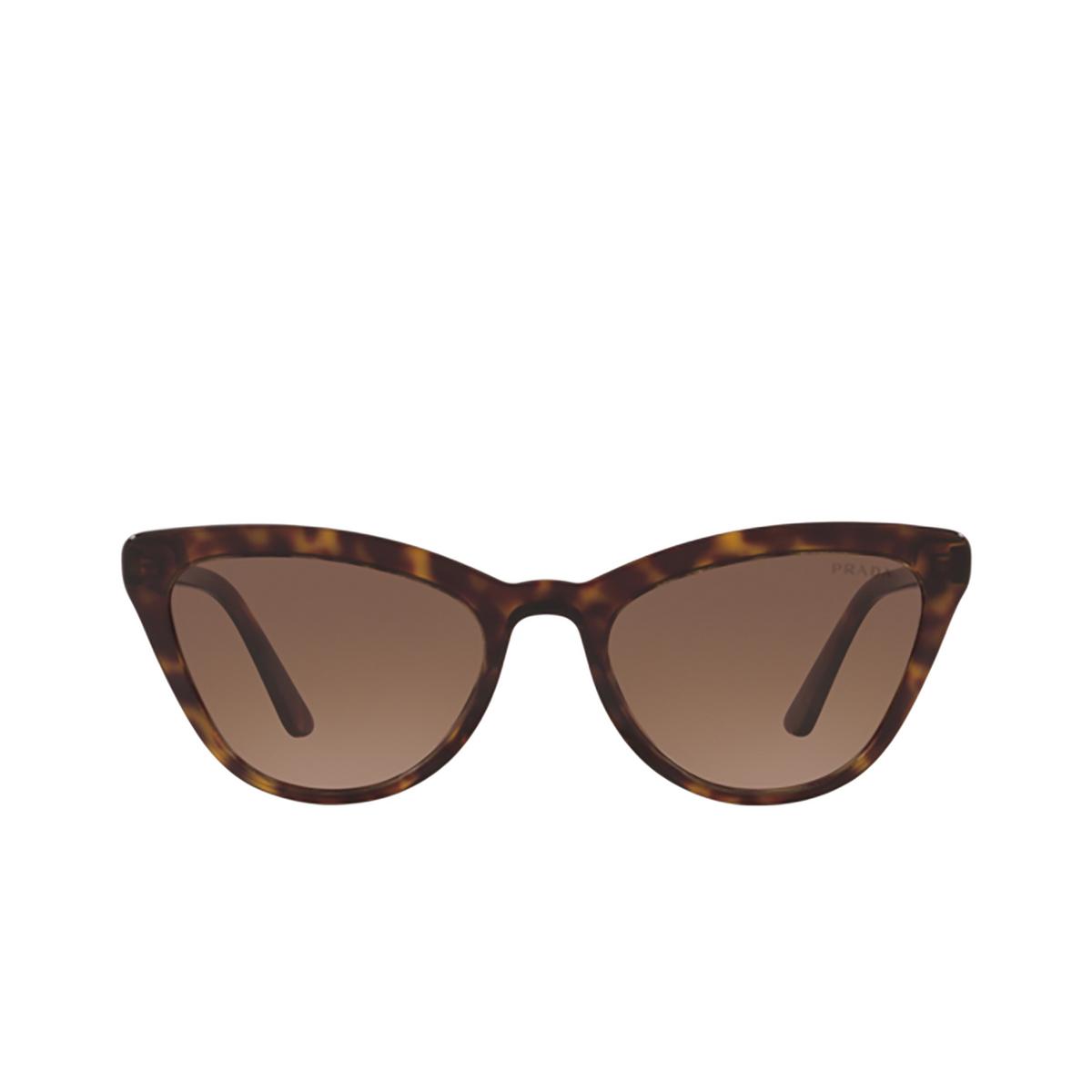 Prada® Cat-eye Sunglasses: PR 01VS color Havana 2AU6S1.