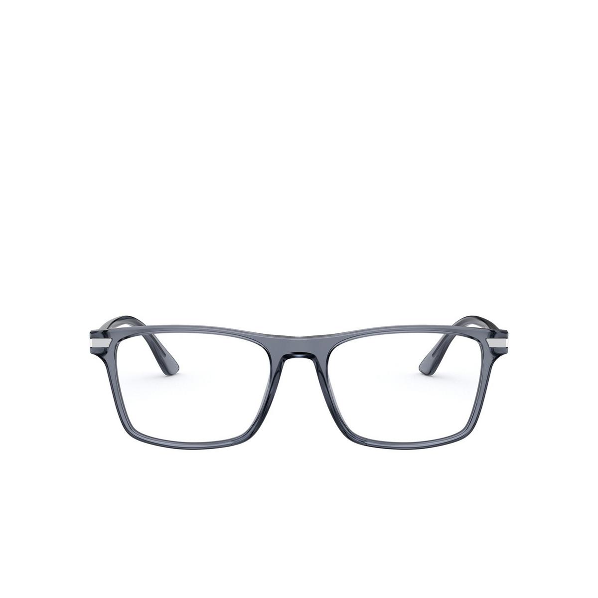 Prada® Rectangle Eyeglasses: PR 01WV color Grey 01G1O1 - front view.