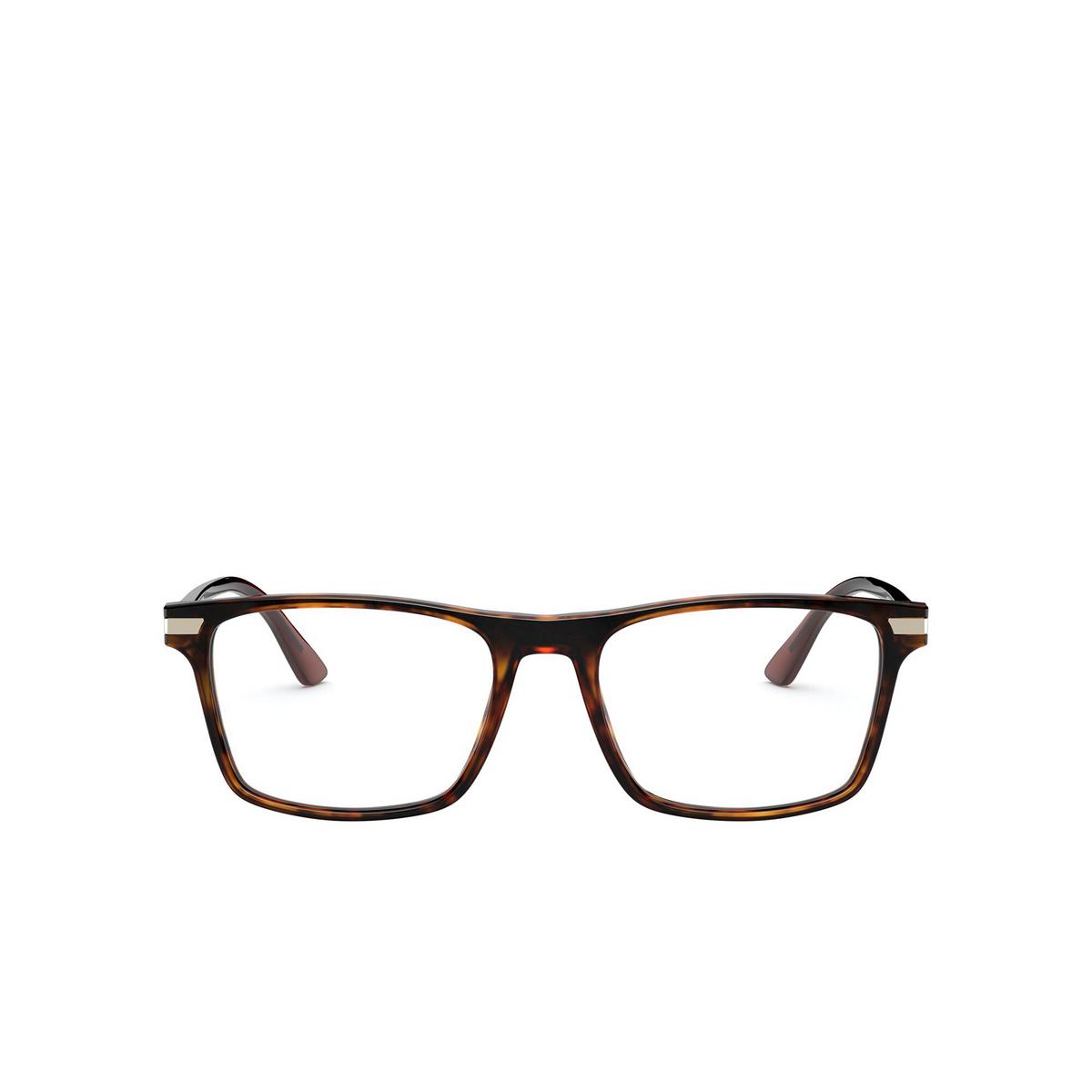 Prada® Rectangle Eyeglasses: PR 01WV color Havana 08F1O1 - front view.