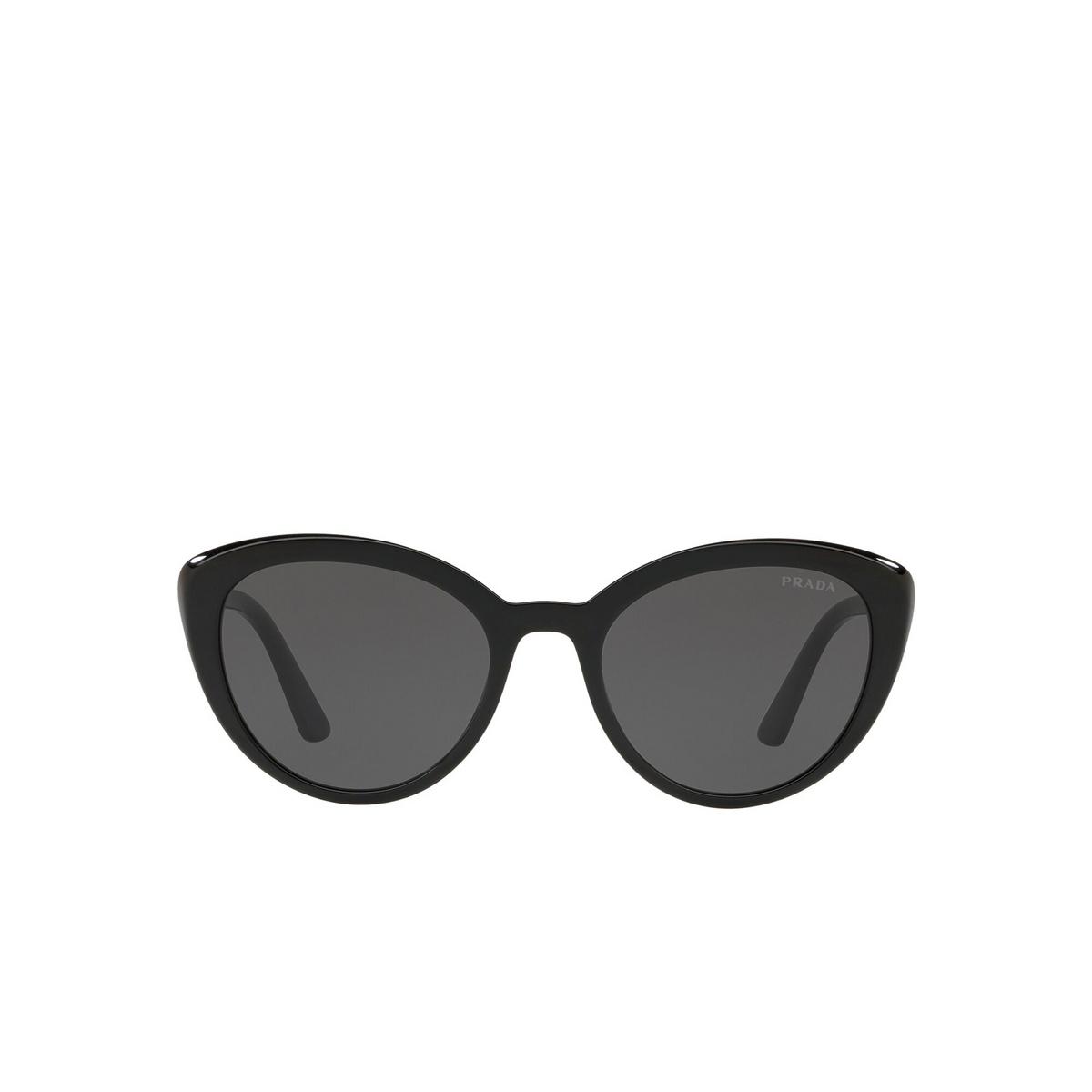 Prada® Cat-eye Sunglasses: PR 02VS color Black 1AB5S0 - front view.