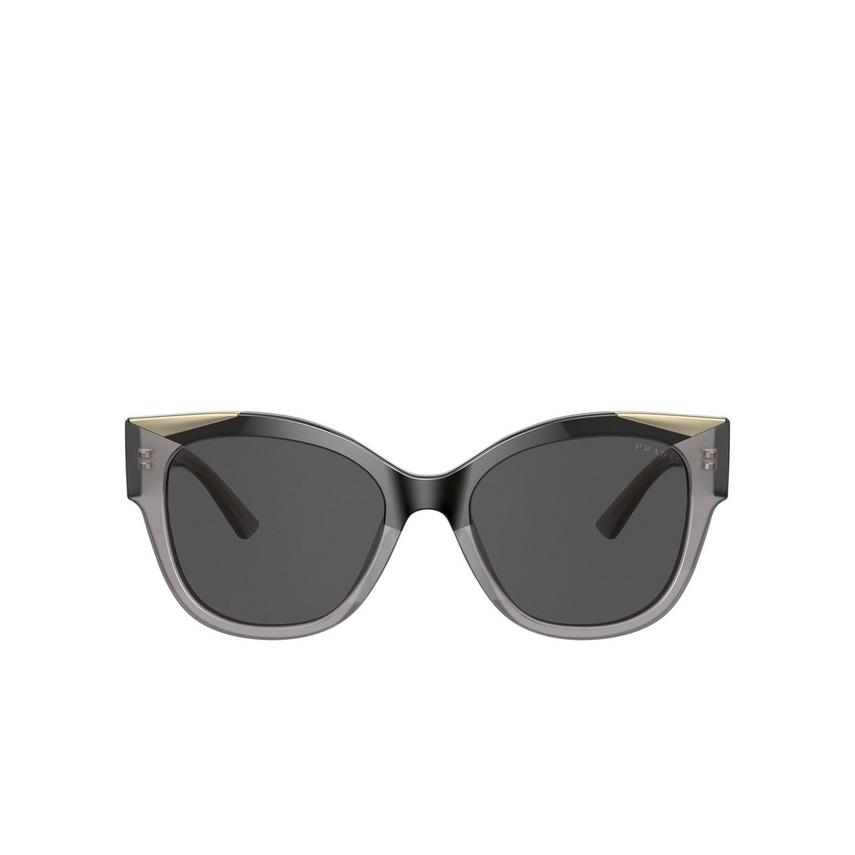 Prada® Butterfly Sunglasses: PR 02WS color Black / Opal Grey 03M5S0 - front view.