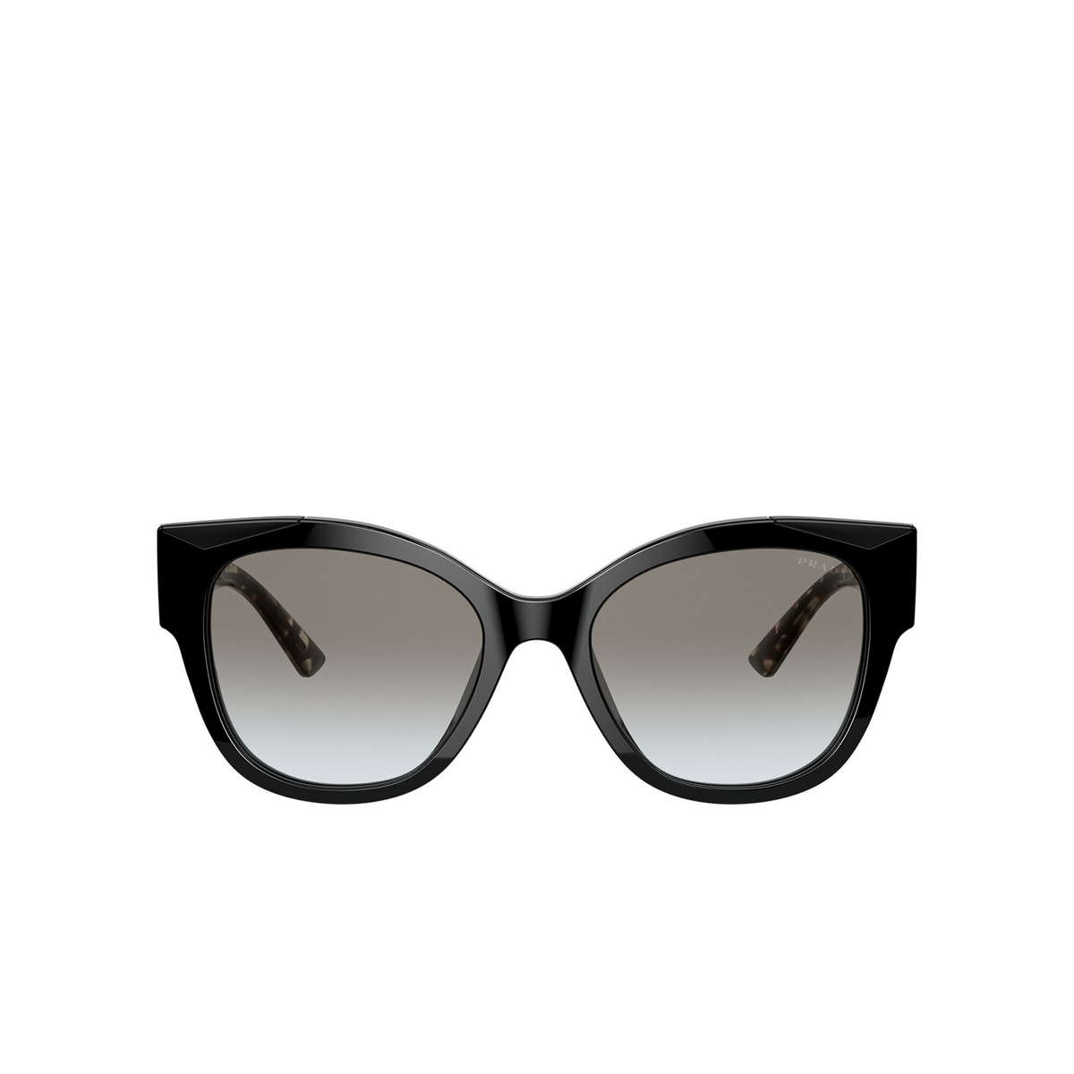 Prada® Butterfly Sunglasses: PR 02WS color Black 1AB0A7 - front view.