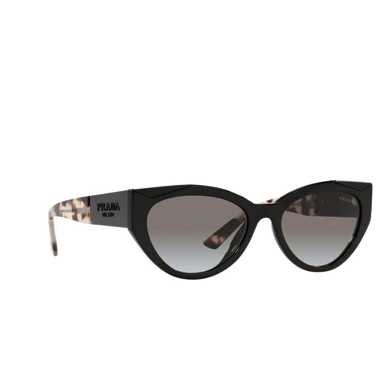 Prada® Cat-eye Sunglasses: PR 03WS color Black 1AB0A7.