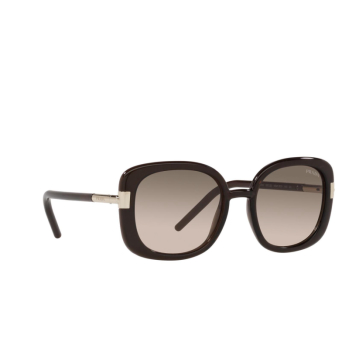 Prada® Square Sunglasses: PR 04WS color Dark Brown Crystal 05M3D0.
