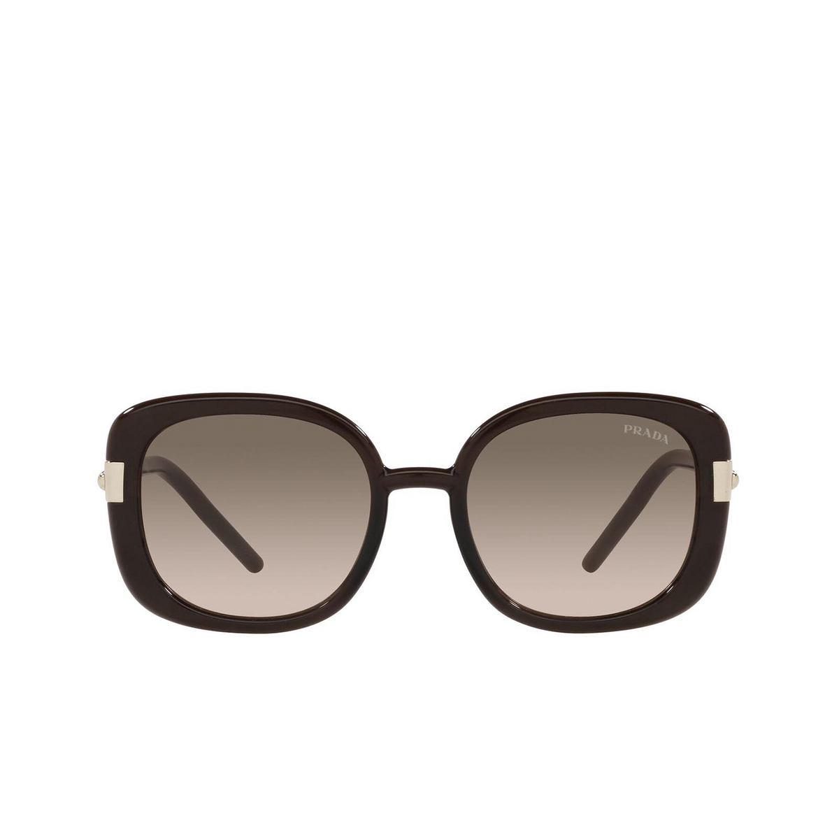 Prada® Square Sunglasses: PR 04WS color Dark Brown Crystal 05M3D0.
