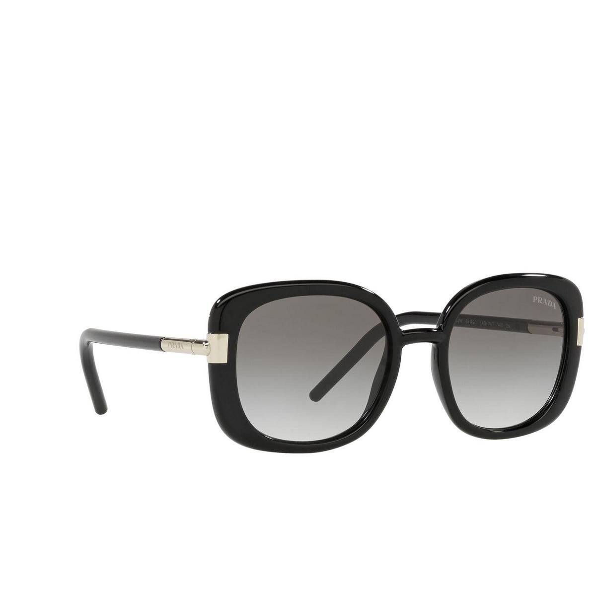 Prada® Square Sunglasses: PR 04WS color Black 1AB0A7.