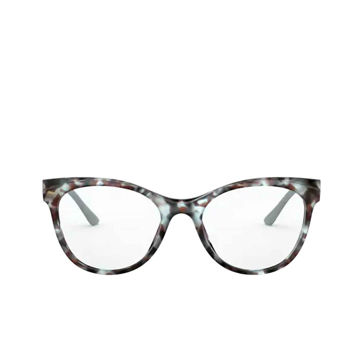 Prada® Butterfly Eyeglasses: PR 05WV color Blue / Brown 05H1O1 - front view.