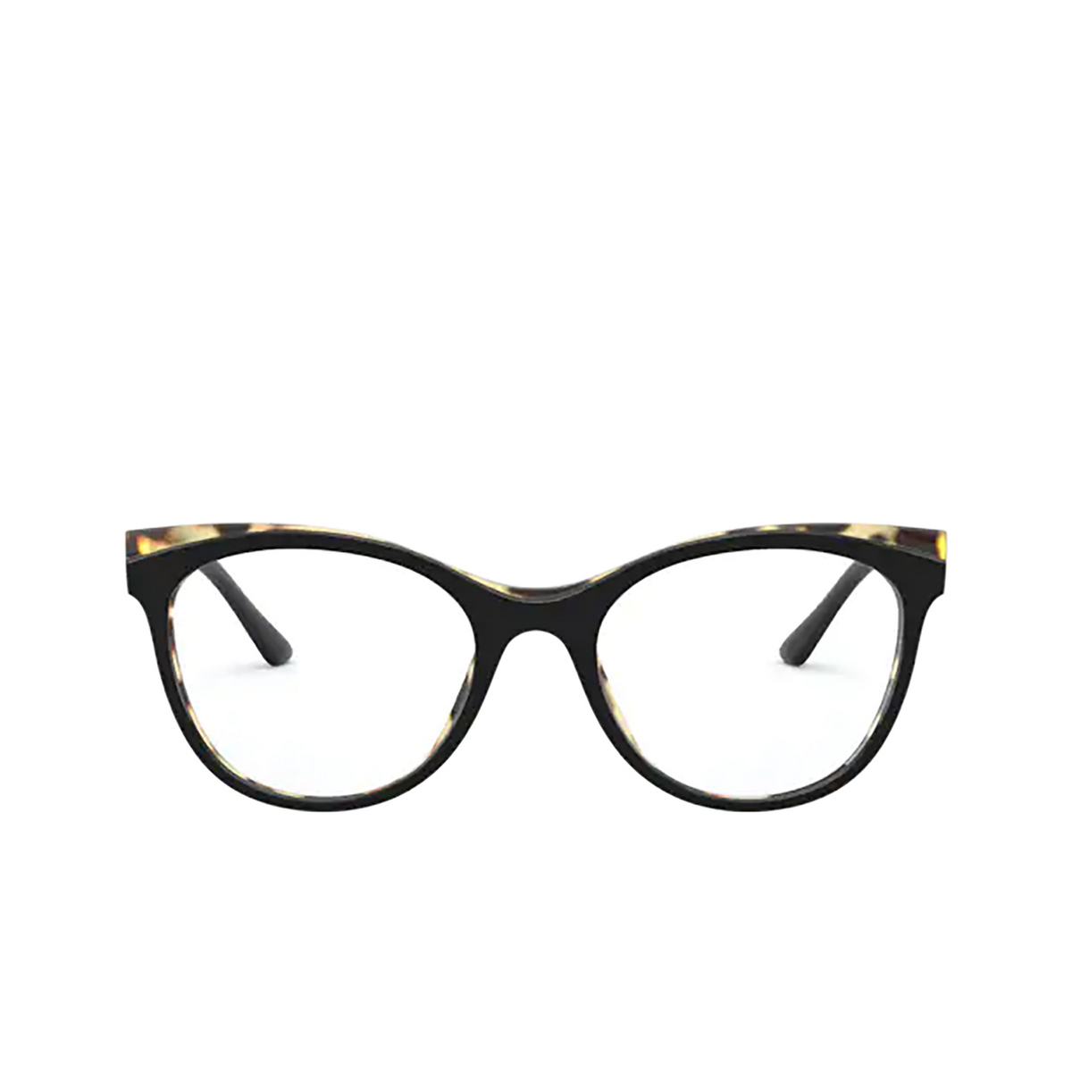 Prada® Butterfly Eyeglasses: PR 05WV color Black / Havana 3891O1 - front view.