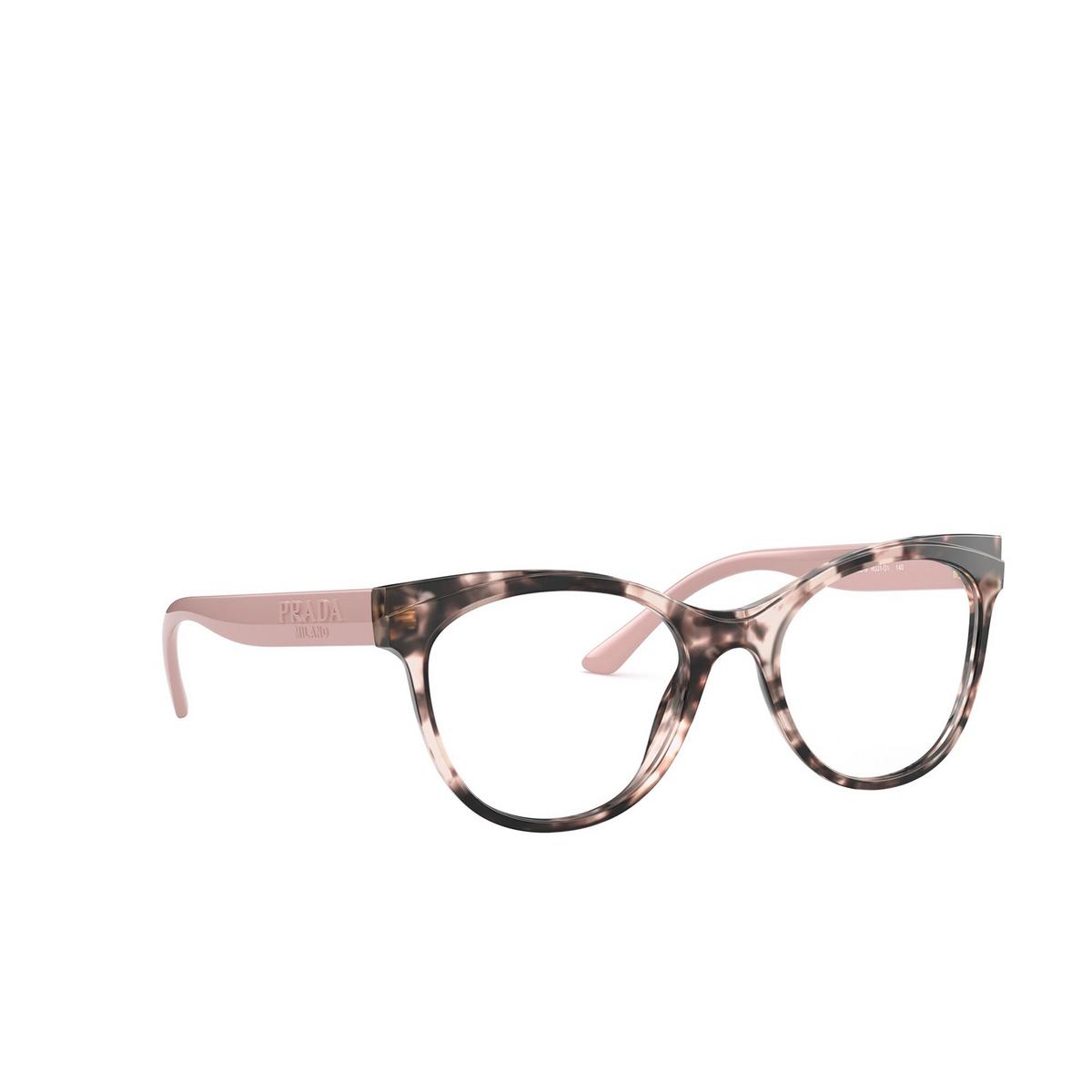 Prada® Butterfly Eyeglasses: PR 05WV color Pink Havana ROJ1O1 - three-quarters view.