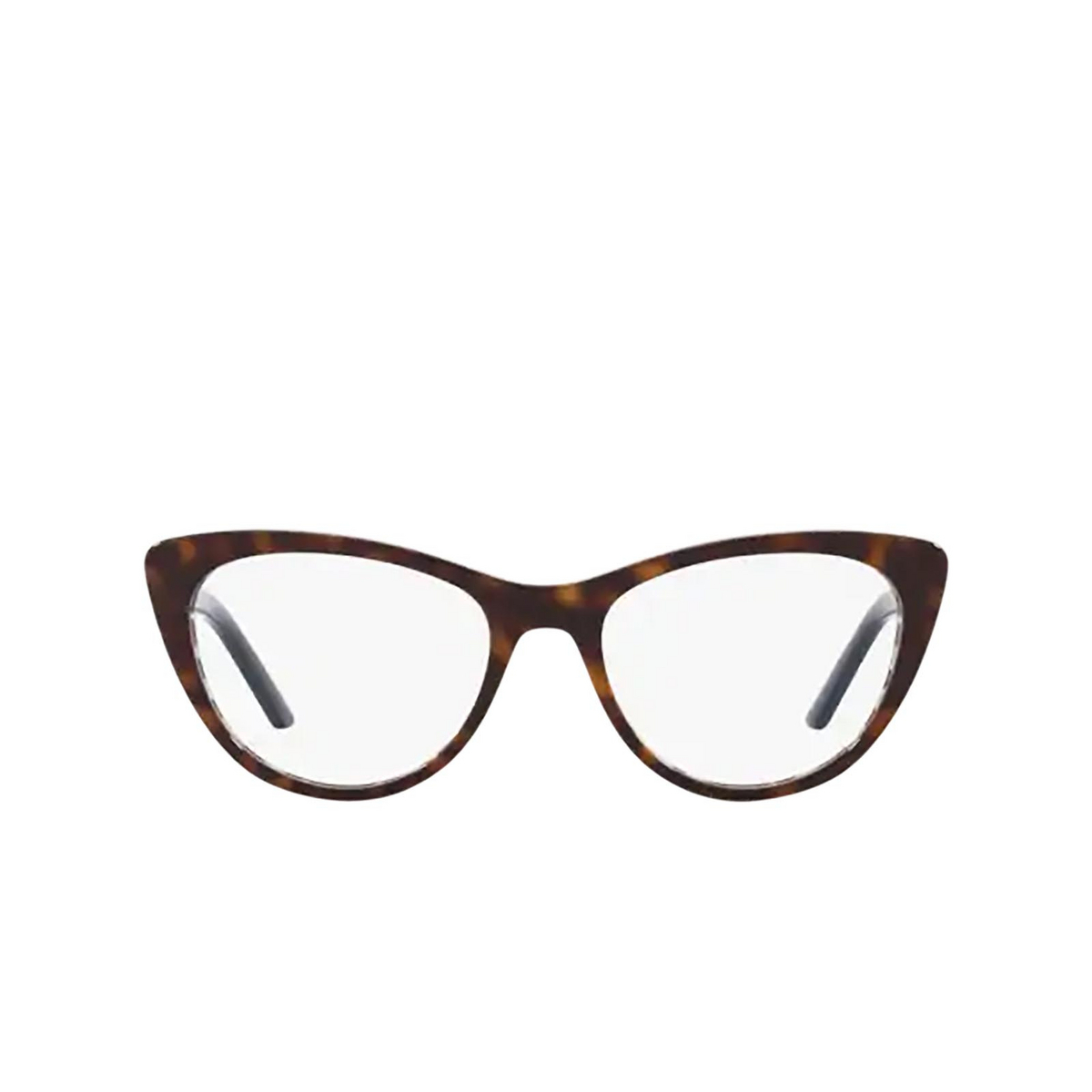 Prada® Cat-eye Eyeglasses: PR 05XV color Havana / Blue Chess 5121O1.