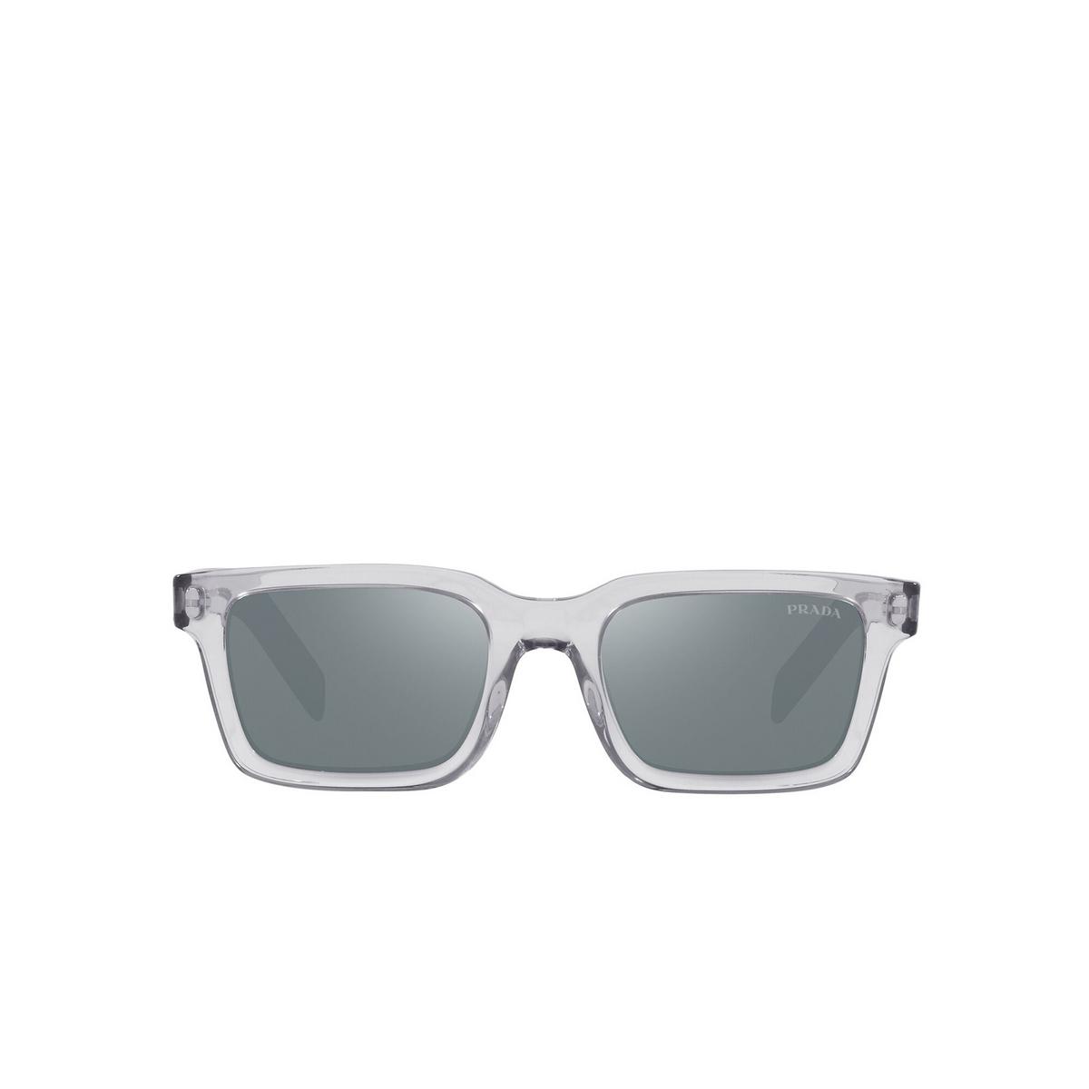 Prada® Rectangle Sunglasses: PR 06WS color Grey Crystal U4301A - front view.
