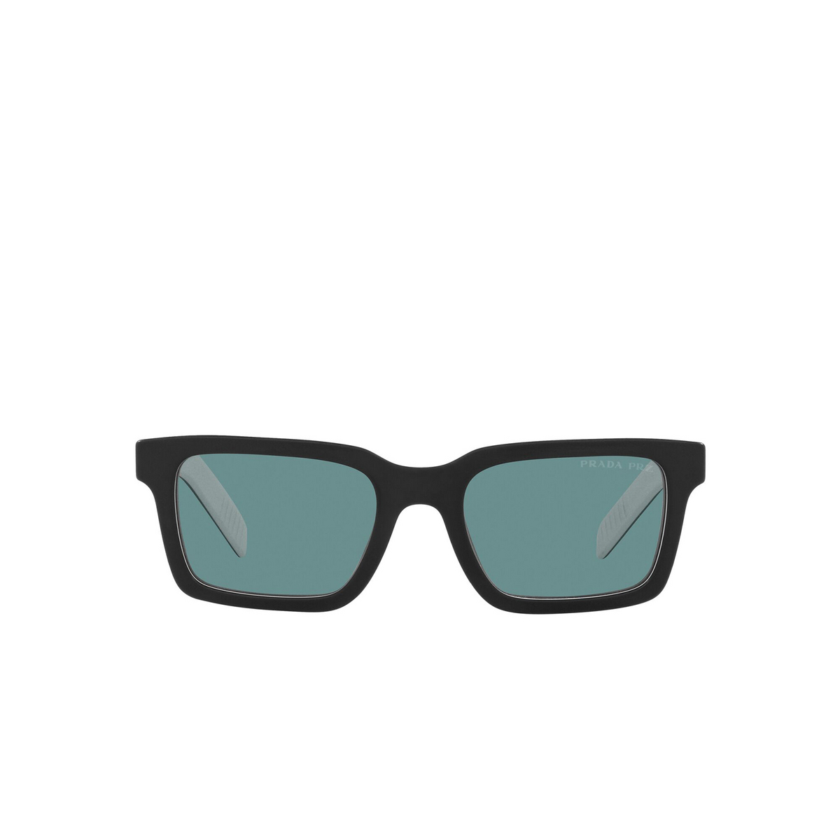 Prada® Rectangle Sunglasses: PR 06WS color Black White Black YC404D - front view.