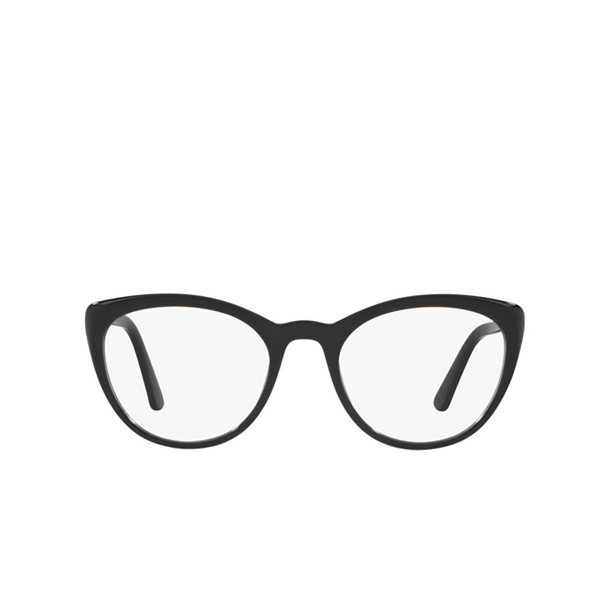 Prada® Butterfly Eyeglasses: PR 07VV color Black 1AB1O1.