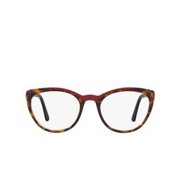 Prada® Eyeglasses: PR 07VV color Havana / Red 3201O1.