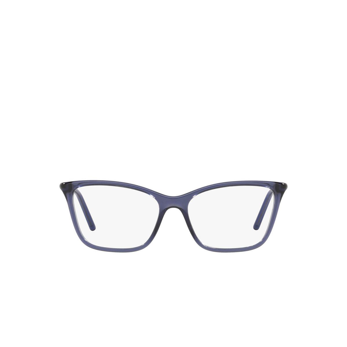 Prada® Cat-eye Eyeglasses: PR 08WV color Bluette 06M1O1 - front view.