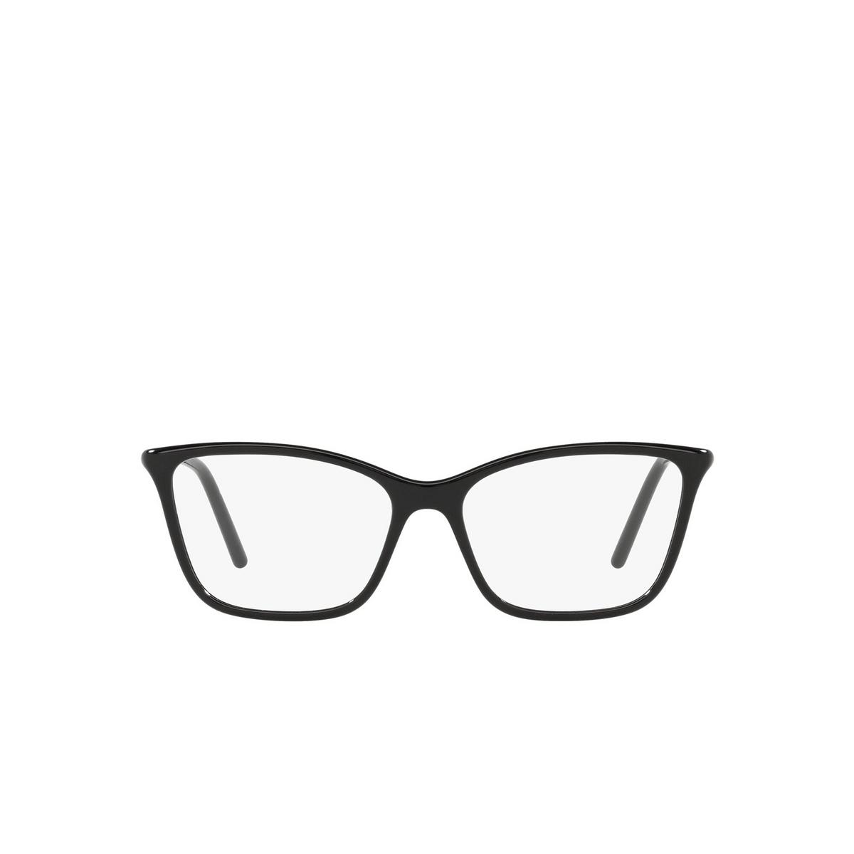 Prada® Cat-eye Eyeglasses: PR 08WV color Black 1AB1O1 - front view.
