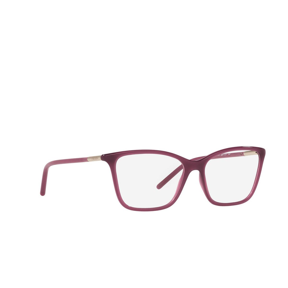 Prada® Cat-eye Eyeglasses: PR 08WV color Opal Bordeaux 2BM1O1 - three-quarters view.