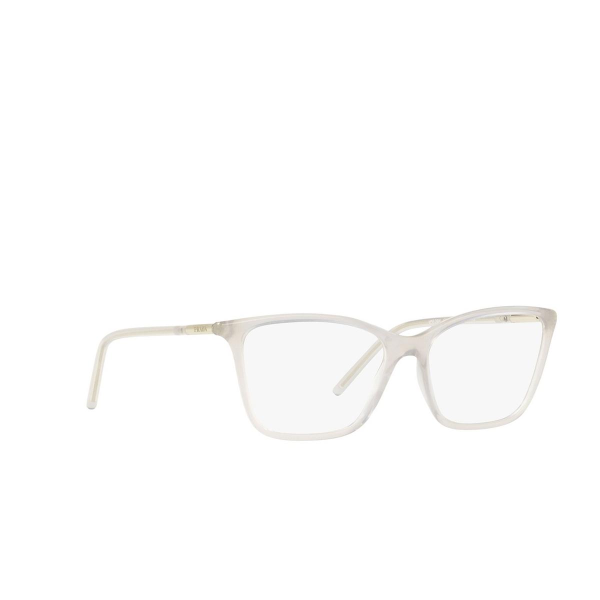 Prada® Cat-eye Eyeglasses: PR 08WV color Opal Grey TWH1O1 - three-quarters view.