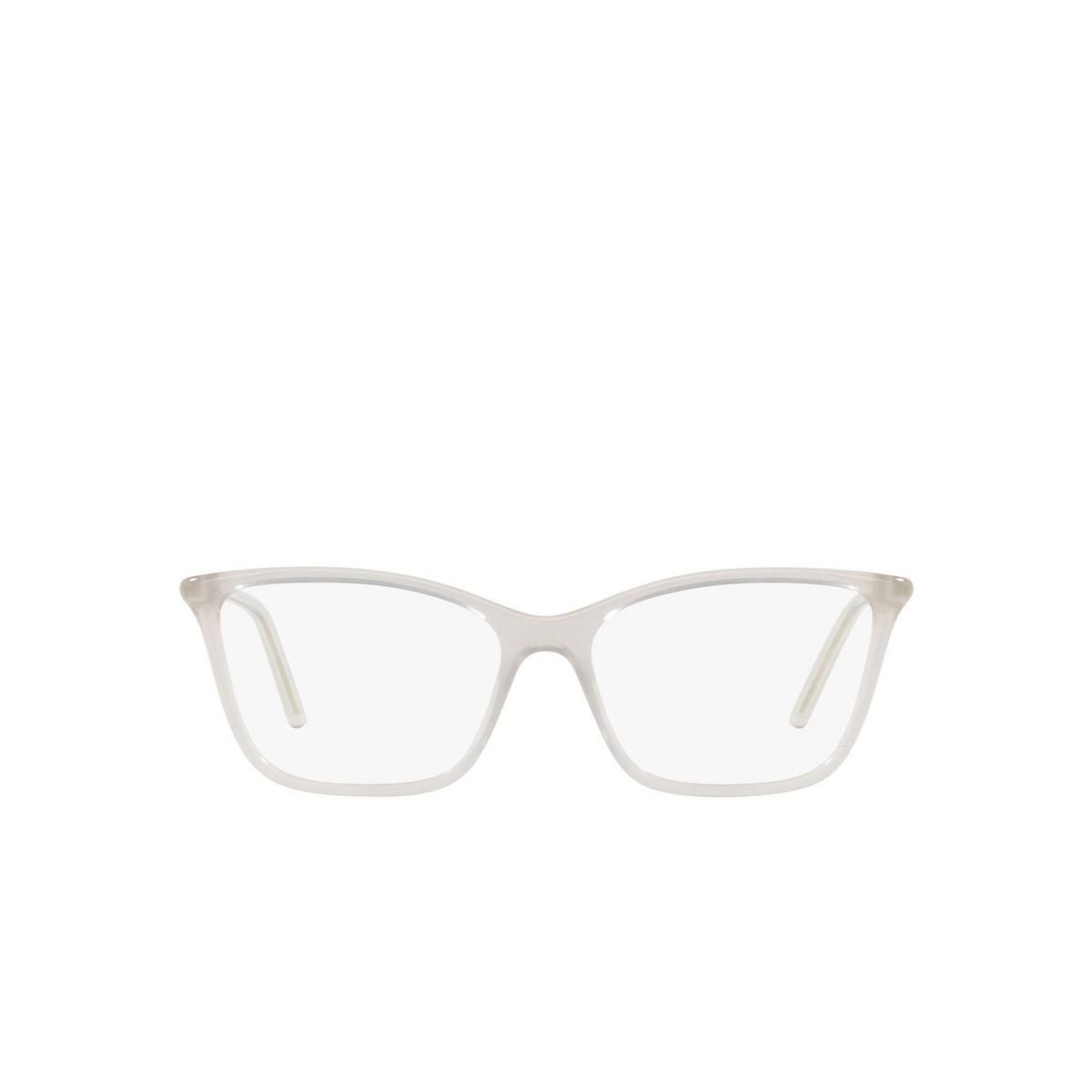 Prada® Cat-eye Eyeglasses: PR 08WV color Opal Grey TWH1O1 - front view.